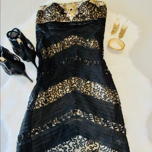 STUNNING NWT beaded, lace, sequence, lined!